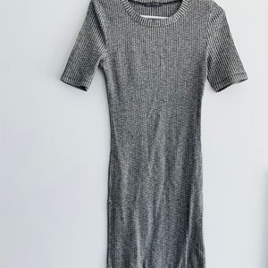 Suzy Shier long grey and black dress. Size small